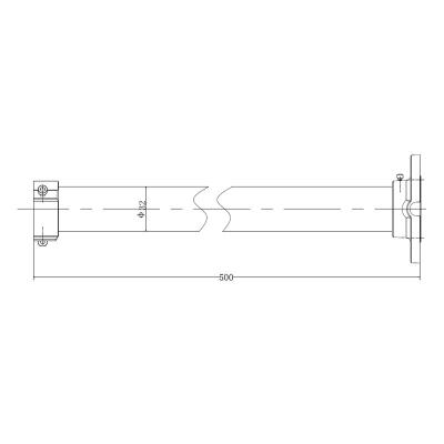 LTV-BMW-P50-HV, кронштейн-штанга для крепления на потолок