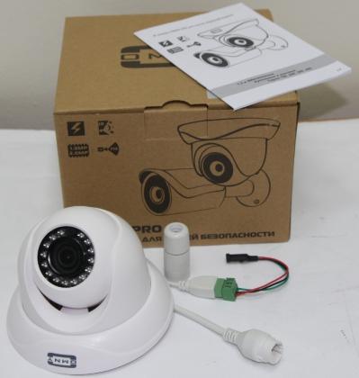 IP камера OMNY 303 PRO купольная мини 960p, c ИК подсветкой, 2.8мм, PoE, подключение активного микрофона 12В.