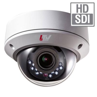LTV-HCDM2-8210L-V2.8-12, антивандальная уличная купольная «день/ночь» HD-SDI видеокамера высокого разрешения с ИК-подсветкой