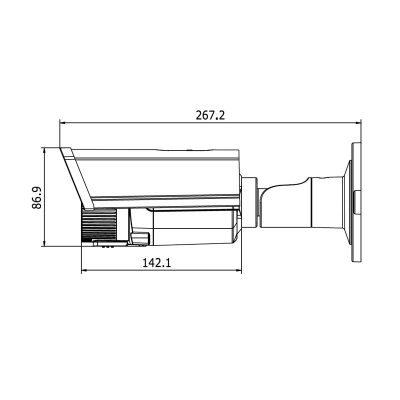 LTV-HCDM2-6200L-V2.8-12, уличная цилиндрическая