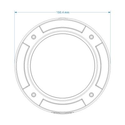 LTV-ICDM1-E8231L-V3-10.5, уличная купольная антивандальная IP-видеокамера с ИК-подсветкой