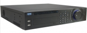 Видеорегистратор гибридный SNR-DVR-D16U-E. Аналог:16-канальный, Effio 960H/400кс,16 аудио. IP: до 16 камер, 1080p/100кс, 8HDD