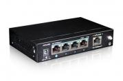 PoE коммутатор PUS-154-5 6-портовый неуправляемый 802.3af 10/100BASE-TX, 4 порта PoE