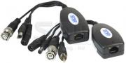 Приемопередатчик видео и аудио сигналов, питания по витой паре SNR-B-P1VPA пассивный 1-канальный(пара)