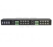 Приемопередатчик видеосигнала по витой паре пассивный 16-канальный SNR-B-P16V-R для монтажа в 19